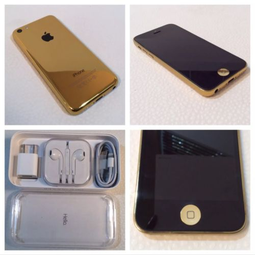 *RARE* CUSTOM iPhone 5c - 16GB - Gold (Unlocked) Straight Talk Verizon H20