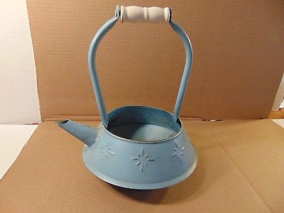 Blue Metal Watering pot, Home Decor.