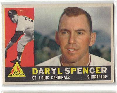 1960 Topps Baseball #368 Daryl Spencer, Cardinals