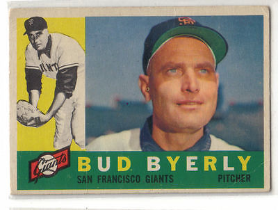 1960 Topps Baseball #371 Bud Byerly, Giants