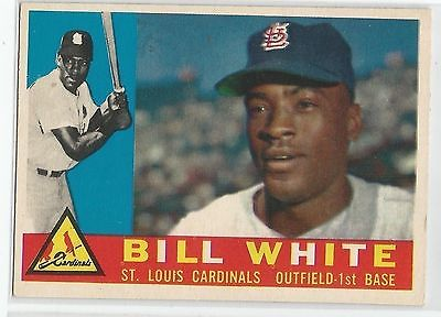 1960 Topps Baseball #355 Bill White, Cardinals