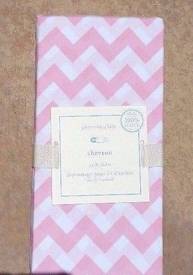POTTERY BARN BABY ~ CHEVRON STRIPE CRIB FITTED SHEET ~ in BLUE