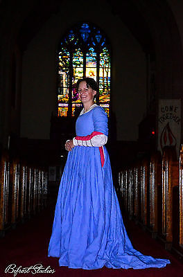 1485 Italian Renaissance Hand Sewn Gown
