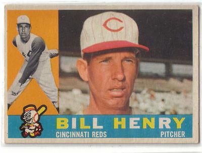 1960 Topps Baseball #524 Bill Henry, Reds HI#