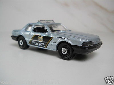Matchbox 93 Ford Mustang LX SSP State Police Car Silver  1/64 Scale  M1