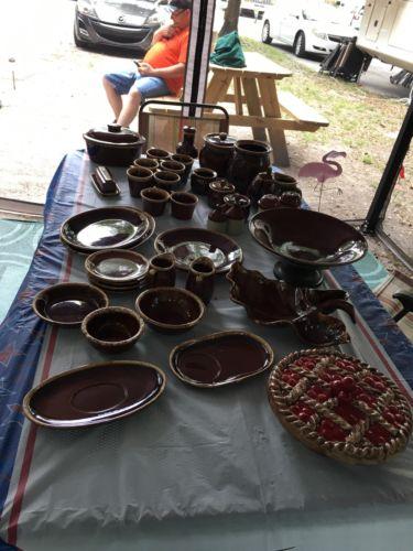 Hull Brown Drip pottery