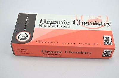 Vintage Vis-ed Organic Chemistry Study Card Set 1983 Visual Education 1000 Cards