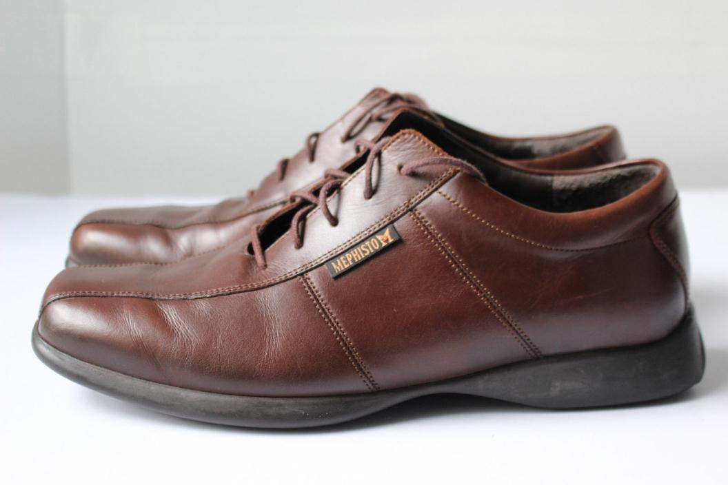 Mens Mephisto Brown Leather Sport Oxforts Shoes 9.5 M