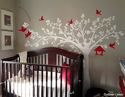 Pop Decors PT-0116-1VD Beautiful Wall Decals, Big Tree with Love Birds, 250cm. S