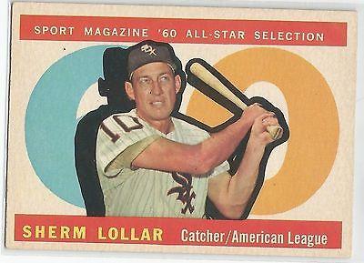 1960 Topps Baseball #567 Sherm Lollar, White Sox AS HI#