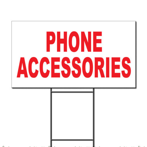 Phone Accessories Red Corrugated Plastic Yard Sign /Free Stakes