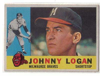 1960 Topps Baseball #205 Johnny Logan, Braves