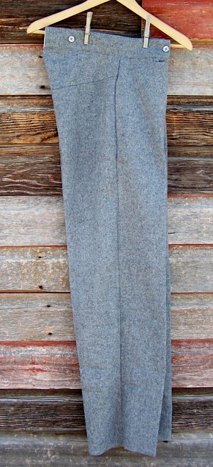 civil war union confederate gray trousers 34
