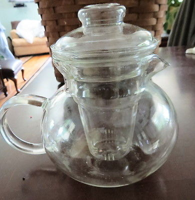 Clear Glass Teapot With Infuser