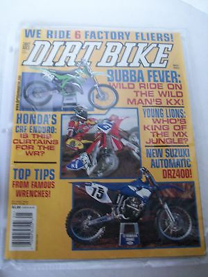 DIRT BIKE MAGAZINE, MAY 2002,  BUBBA FEVER WILD RIDE ON THE KX, TOP TIPS