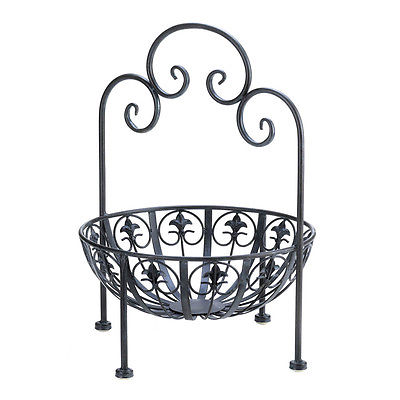 Fleur De Lis Standing French Style Display Bowl For Kitchen