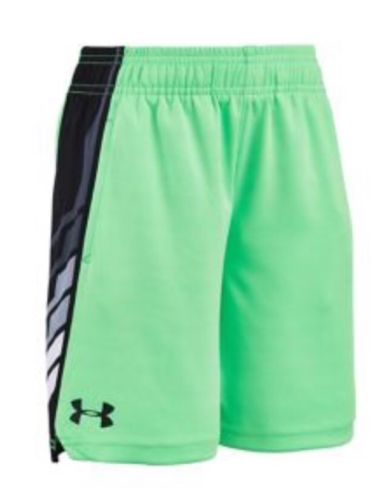 Nwt  Boys Under Armour Shorts Size 7 Laser Green (Free Shipping)