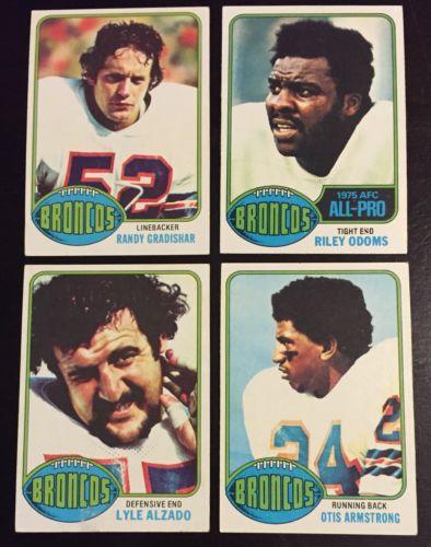 1976 Topps Denver Broncos Team Set Complete Alzado Gradishar RC Armstrong