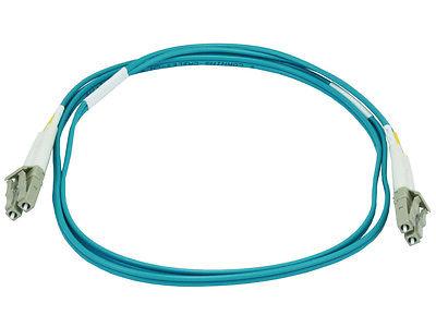 10Gb Fiber Optic Cable,LC/LC,Multi Mode,Duplex 1 Meter (50/125 Type) Aqua (6385)