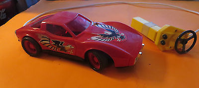 1969-70 BATTERY OPERATED TOY REMOTE RED CORVETTE MADE IN HONG-KONG