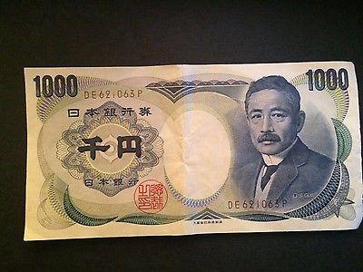 Japanese 1000 Yen Nippon Ginko