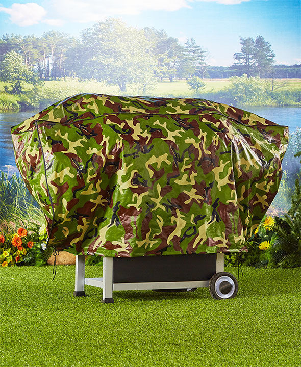 Camo Print Grill Cover Waterproof