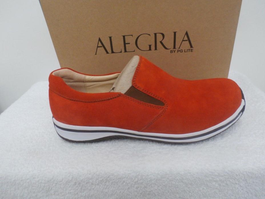 Alegria MENS Suede slip on Aaron ORANGE Size 47 (13)