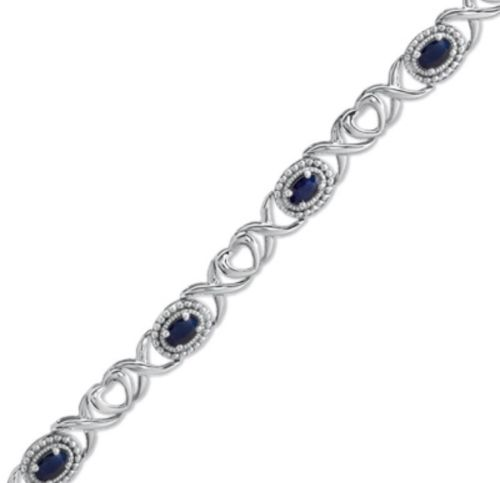Zales sapphire bracelet, birthstone