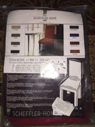 Scheffler Home Microfiber Chair Cover 2 Set Red