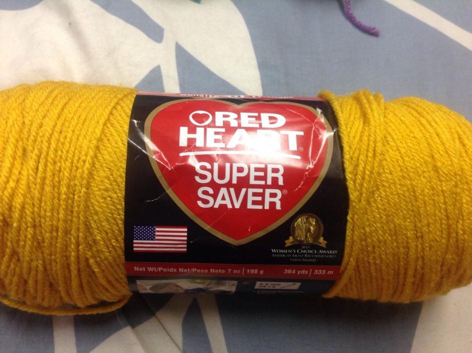 New red heart 364 yard yarn skein