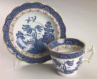 Booths REAL OLD WILLOW BLUE Demitasse Cup & Saucer