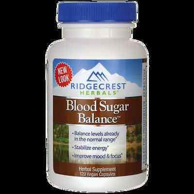 Ridgecrest Herbals Blood Sugar Balance 120 Vegan Caps