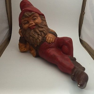 Medium Size Ceramic Gnome Wants to Chill At Your Groovy Pad