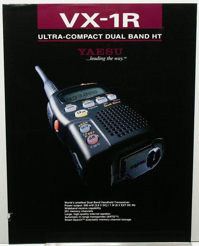 RARE Original Color 4 Sided Brochure for the YAESU VX-1R Dual Band HT HAM Radio