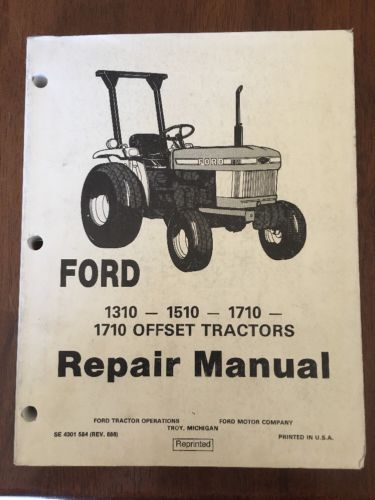 Ford 1310, 1510, 1710 Tractor Service Manual Repair Shop Book
