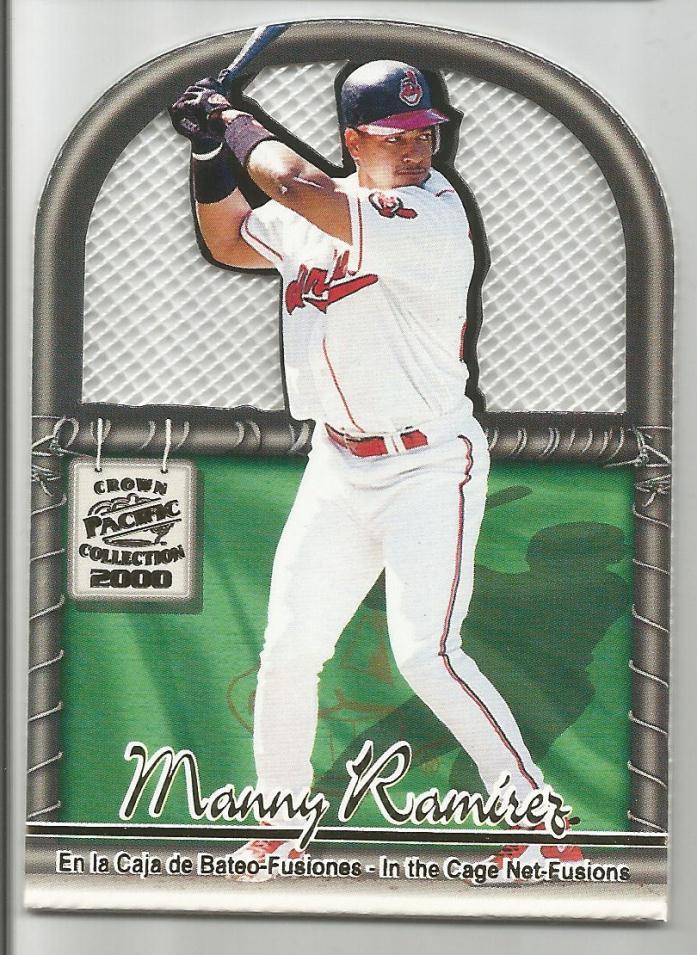 2000 Pacific Crown Manny Ramirez Die Cut Spanish Version