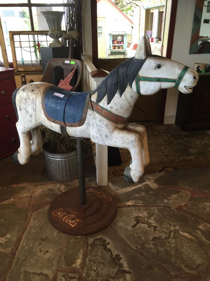REPRODUCTION CAROUSEL HORSE on VINTAGE
