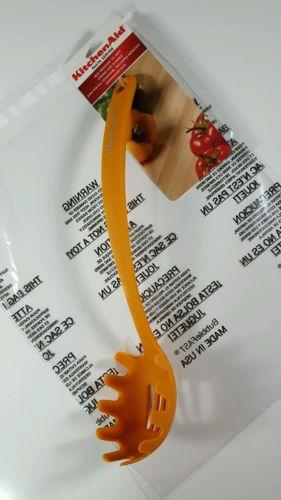 KitchenAid All Nylon Pasta Server, Tangerine Orange, New