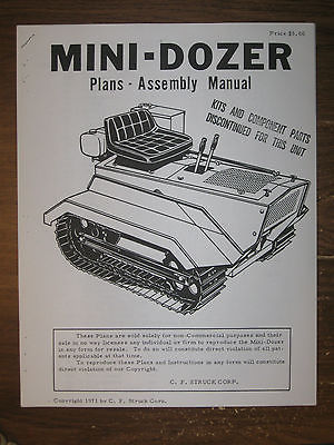 Mini-Dozer  Plans-Assembly Manual