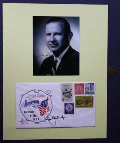 1961-69 Massachusetts Governor John Volpe signed 1966 USA First Day Cover/photo!