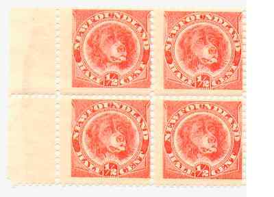 Newfoundland No 57 Mint Never Hinged Fine Margin Block of 4