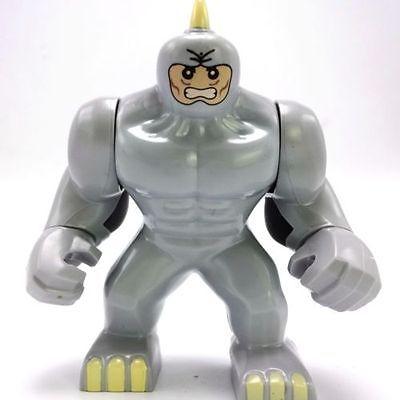 1 Lego Brick + Custom Rhino 3