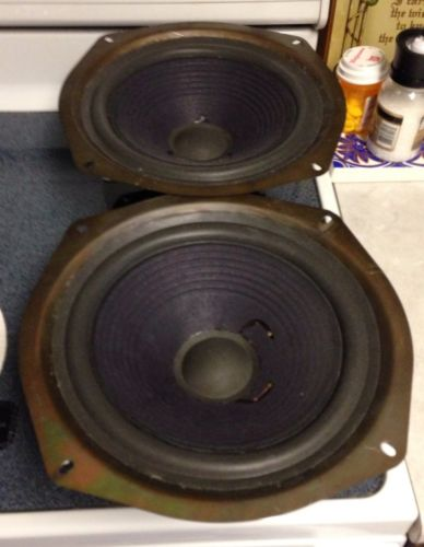 Large Advent Speaker Woofers Professionally Refoamed. Nice