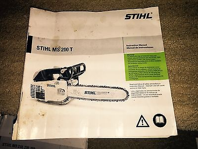Stihl  MS 200 T Chainsaw Owner's Manual . NOS