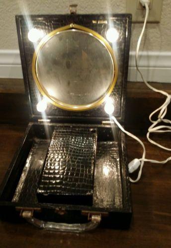 Vintage lighted make up mirror