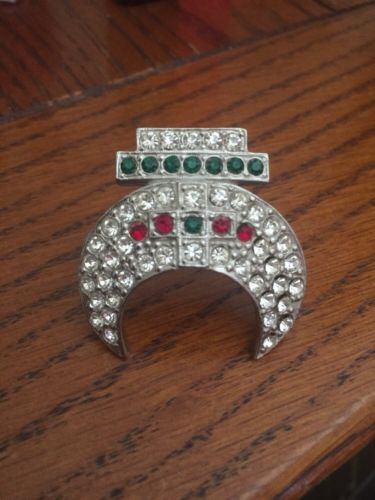 Vintage Masonic Rhinestone Tassel Pin