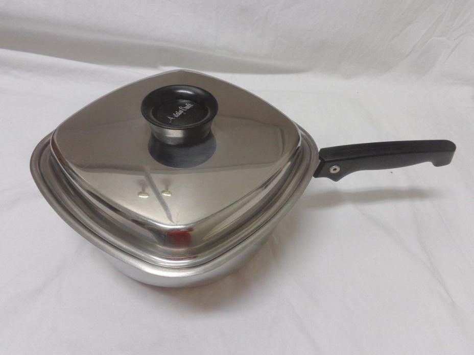 Vintage West Bend AristoCraft Heavy 18/8 Stainless 3 QT. Saucepan with lid