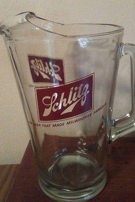 Glass Beer Pitcher - Schlitz