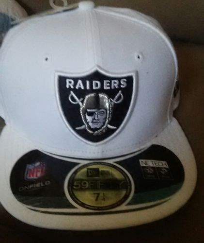 Oakland Raiders fitted new era hat 5950 7 1/4