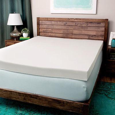 Foam MattressTopper Bed Bedroom Queen Memory Padded Comfort Soft Sleep Pad Ultra